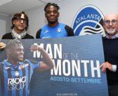 Duván Zapata y un reconocimiento de Atalanta: escogido como el mejor jugador de agosto-septiembre